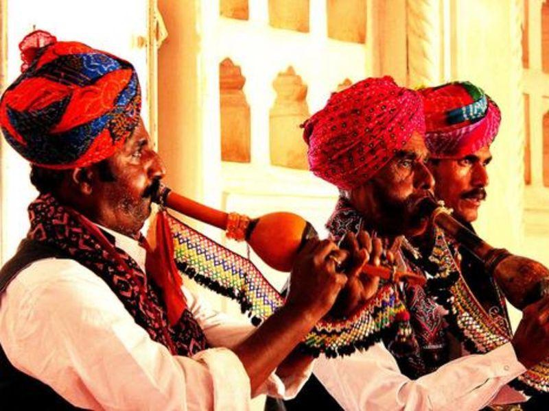 Folk singers in Jodhpur