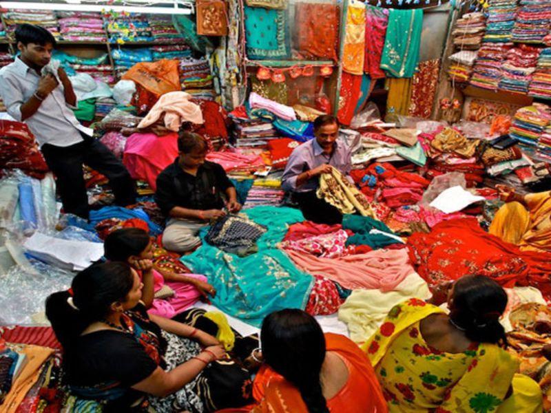Chandni Chowk Market in Old Delhi.