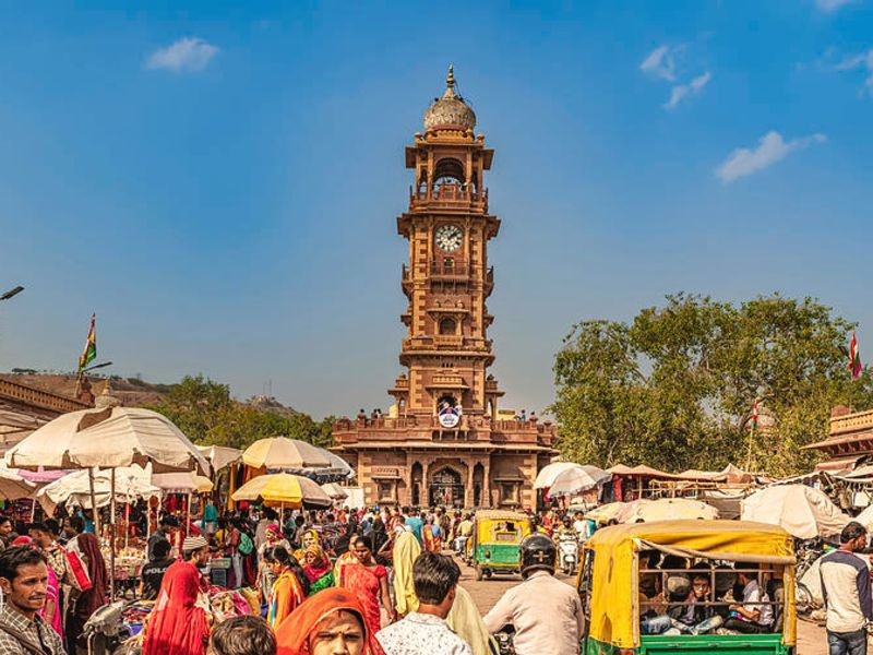 Clock Tower Market in Jodhpur