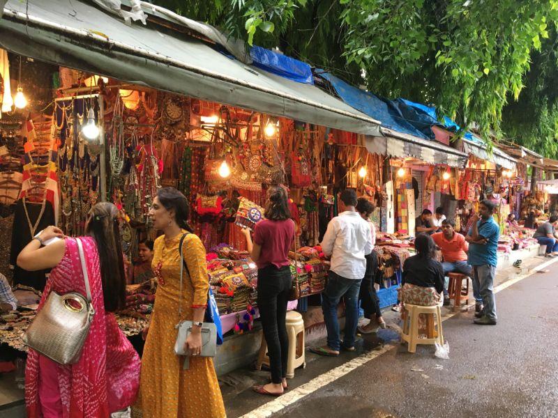 Janpath Market in Delhi.