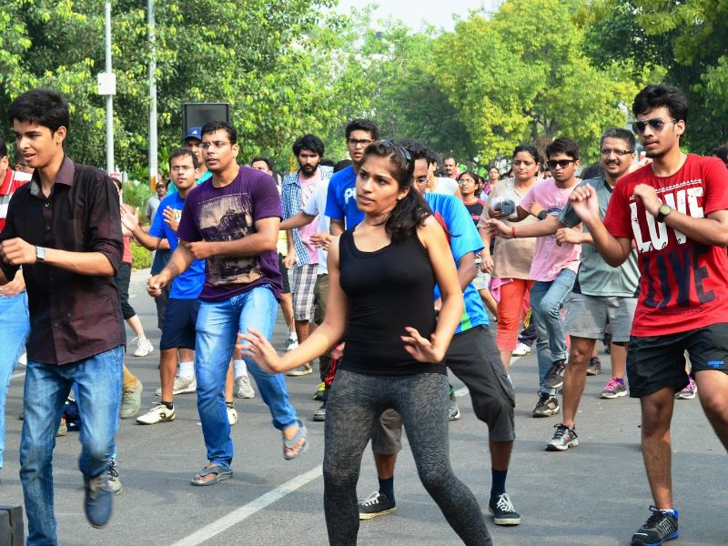 Zumba at Raahgiri, CP