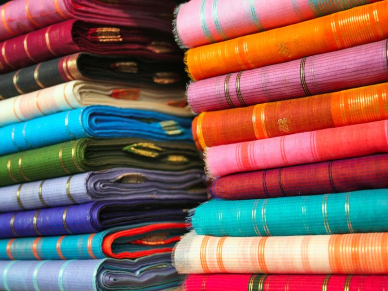 The famous saris of Maheshwar.