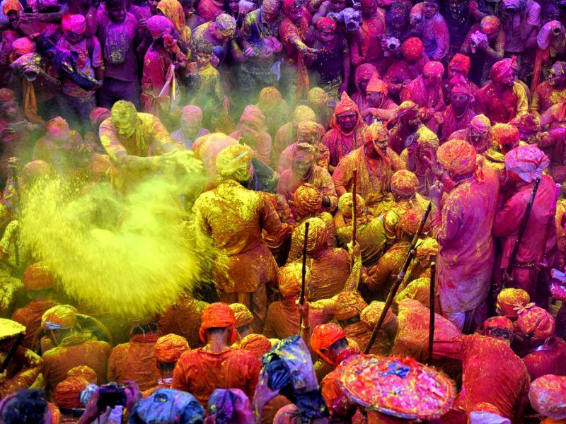 The festival of Holi.