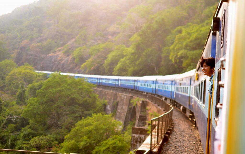 train, first solo trip